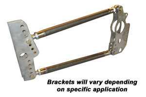 PRO 500 4-Link Kit Chromoly Bracket & Rod Ends